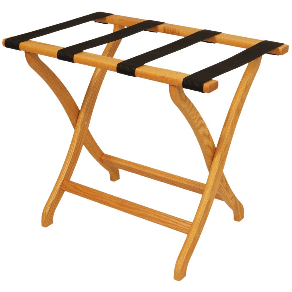 Designer Solid Oak Luggage Rack By Wooden Mallet Price: $58.99